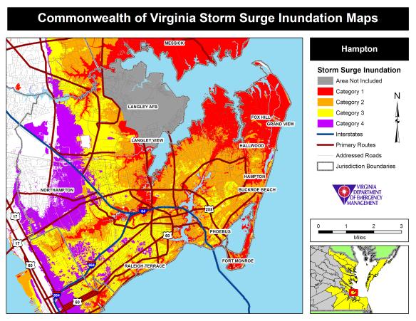 City of Hampton Storm Surge Maps | wxrjm